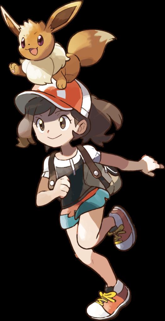 Let's Go Pikachu Female Trainer Artwork