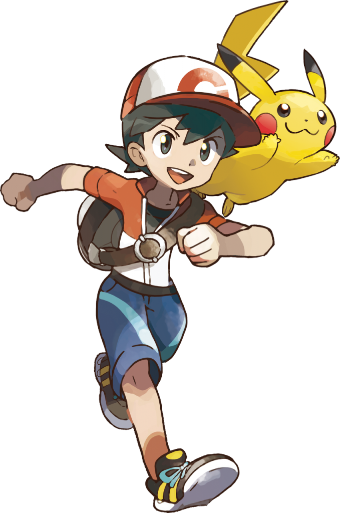 Let's Go Pikachu Male Trainer Artwork