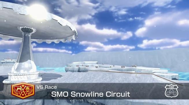 Snowline Circuit Mario Kart