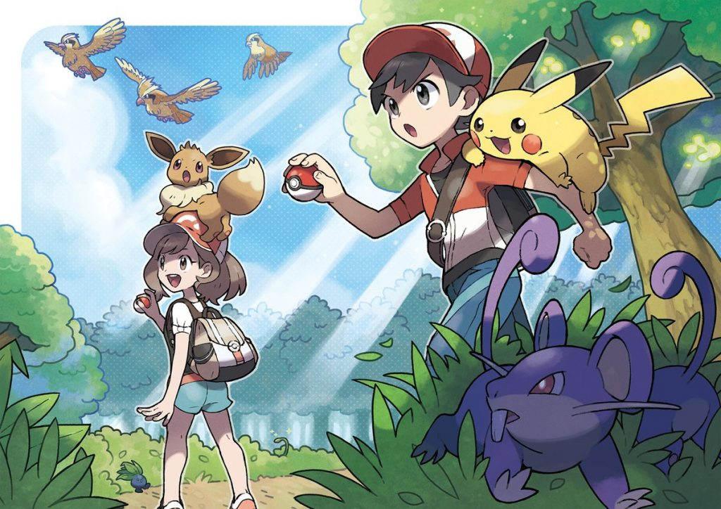 Pokemon Let's Go Pikachu/Let's Go Eevee Artwork 1