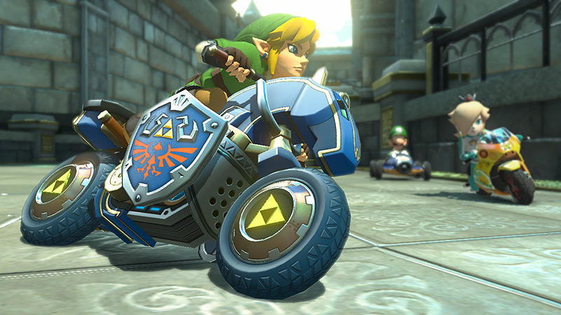 Link on Hyrule Circuit in Mario Kart 8
