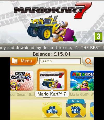 Wario Advertising Mario Kart 7