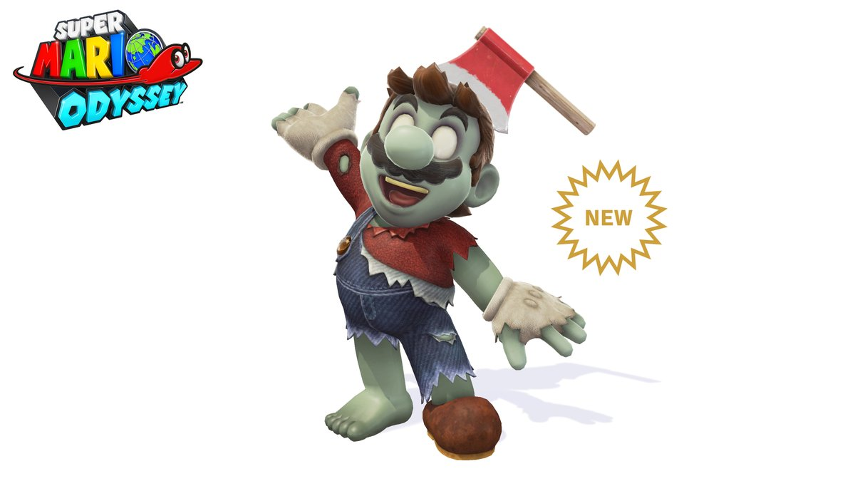 Zombie Outfit Mario Odyssey