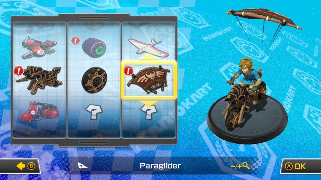 Champions Tunic Link in Mario Kart 8 Deluxe