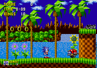 Sonic The Hedgehog on Mega Drive