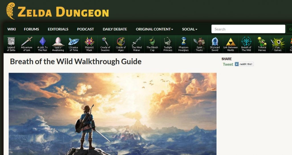 Zelda Dungeon Guide