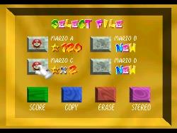 Mario 64 File Select