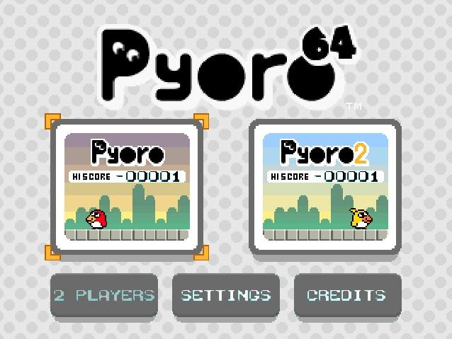 Pyoro N64 Menu