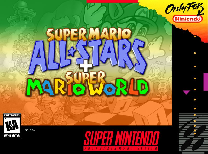 Super Mario All Stars + Super Mario World Box Art