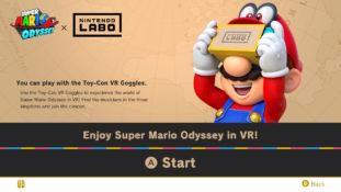 Mario Odyssey Labo VR Title