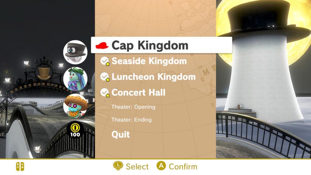 Mario Odyssey VR Menu
