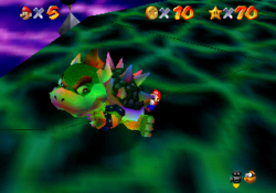 Mario Throwing Bowser