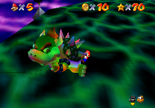 Mario Throwing Bowser