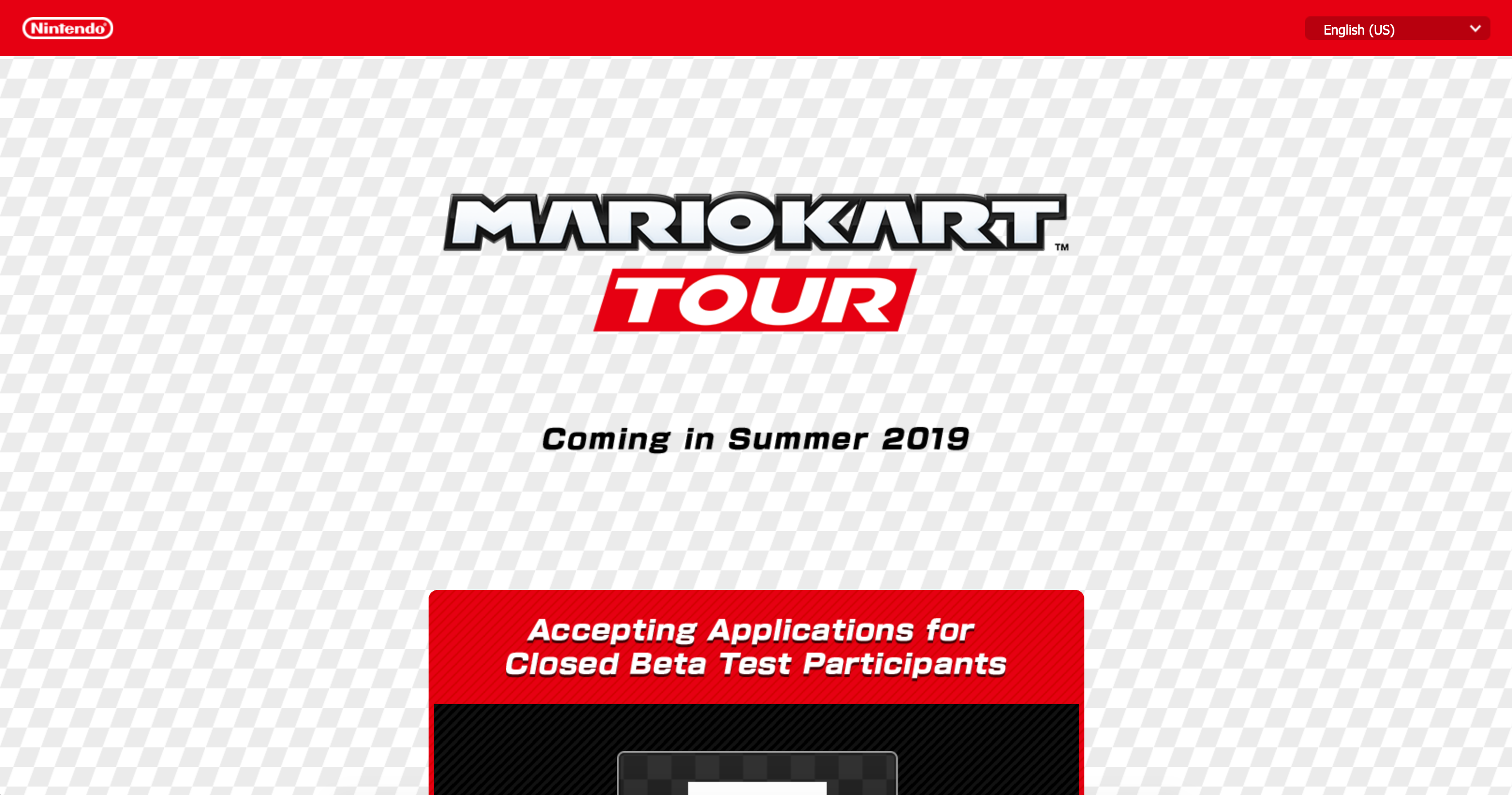 Mario Kart Tour Website