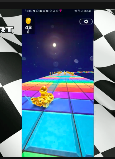 Rainbow Road in Mario Kart Tour