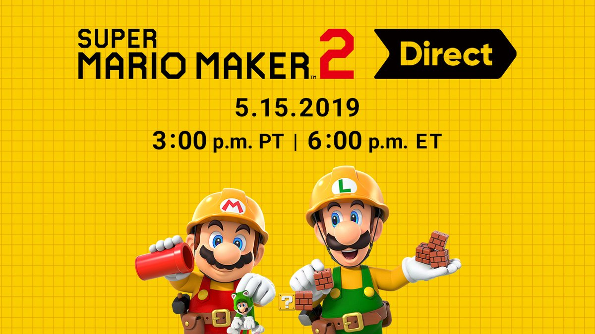 Super Mario Maker 2 Direct Banner