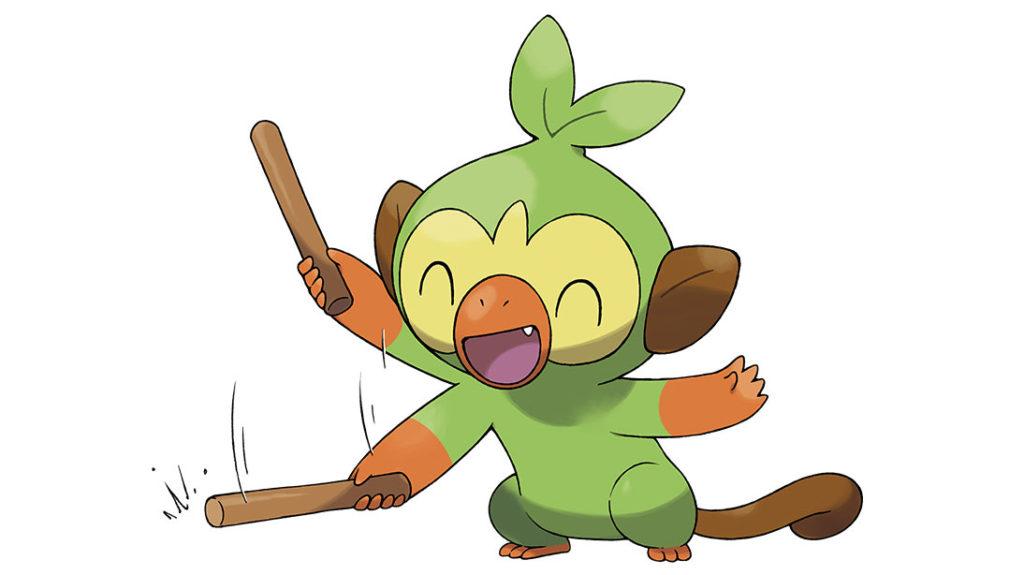 Grookey with stick