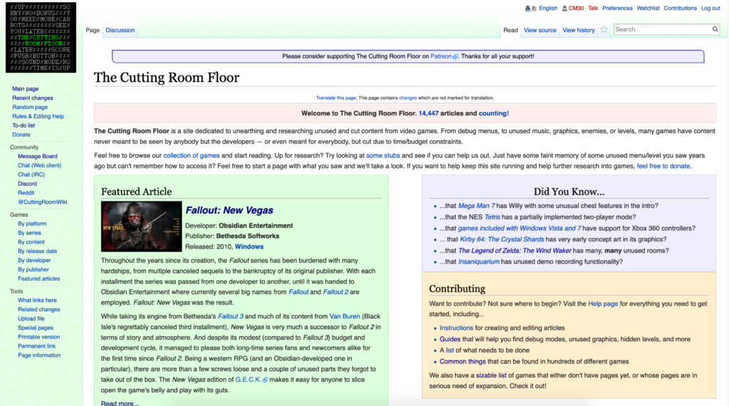 The Cutting Room Floor Wiki
