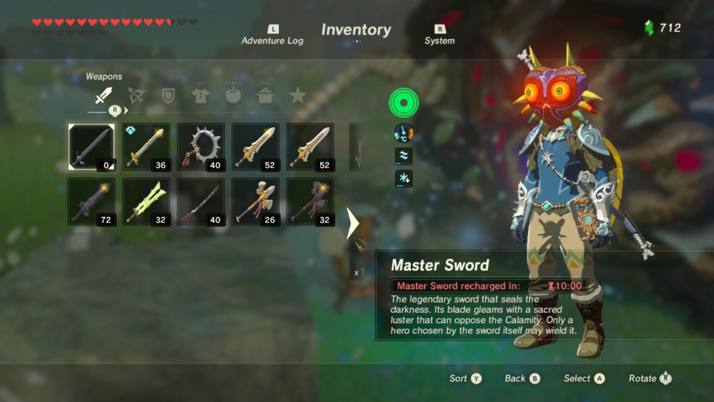 Unusable Master Sword