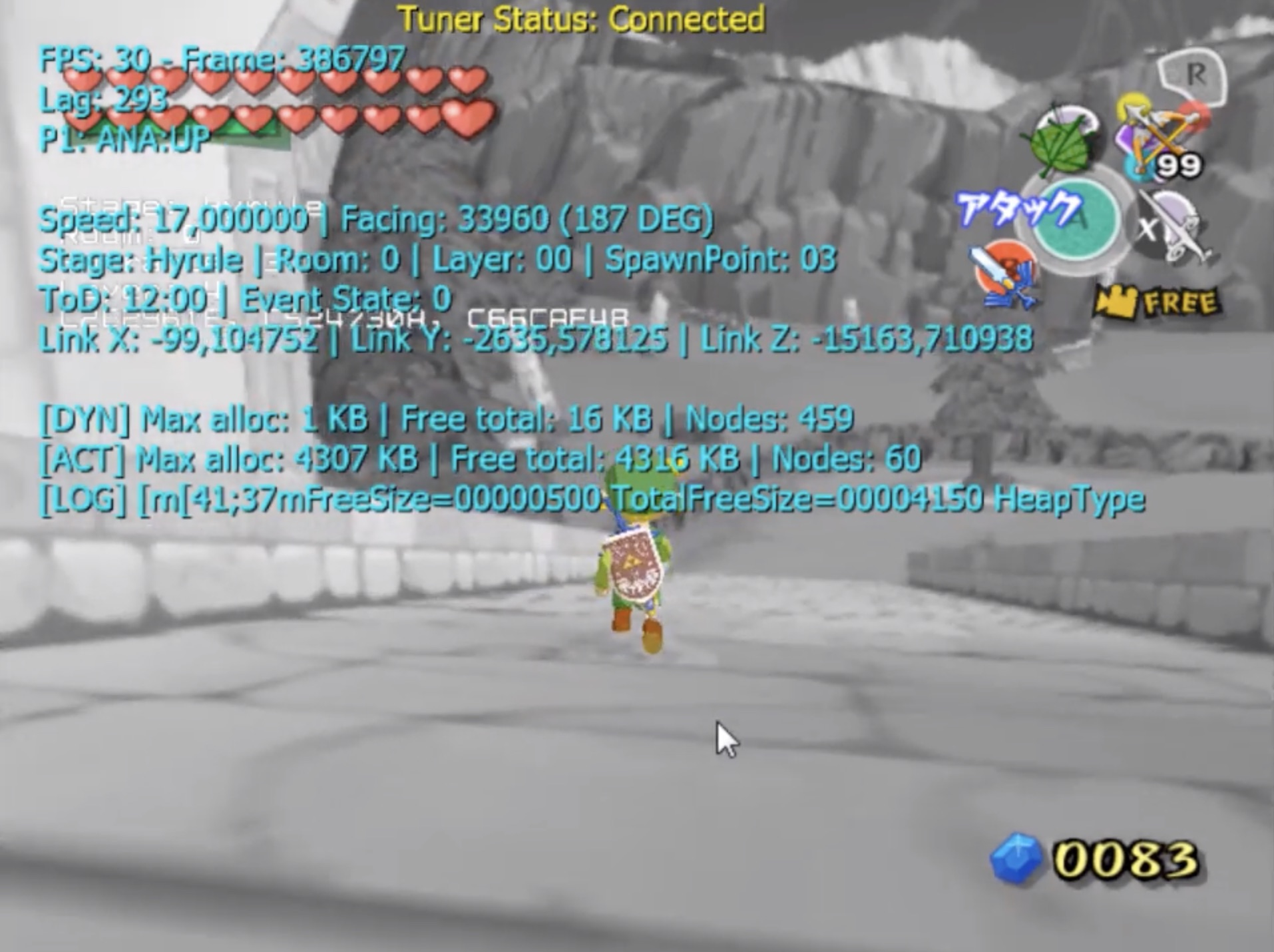 Wind Waker GCN Barrier Skip