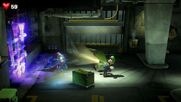 Luigi vs bellhop ghost