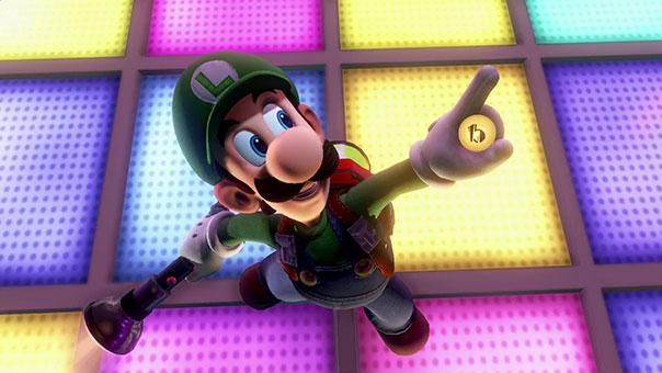 Luigi gets elevator button in Dance Hall
