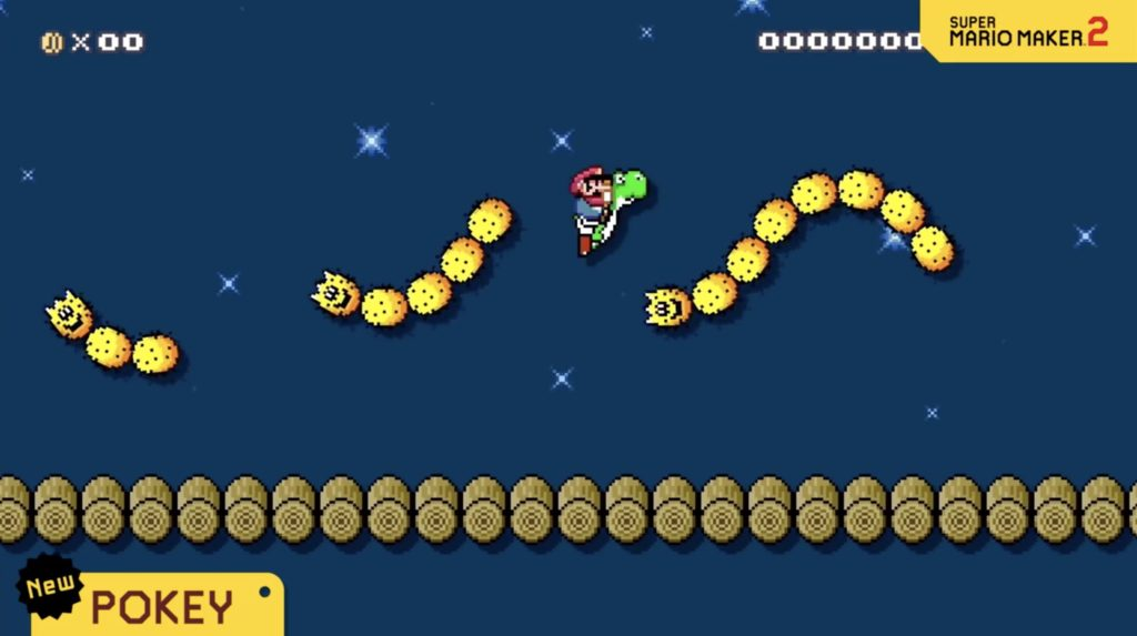 Mario Maker 2 Flying Pokey