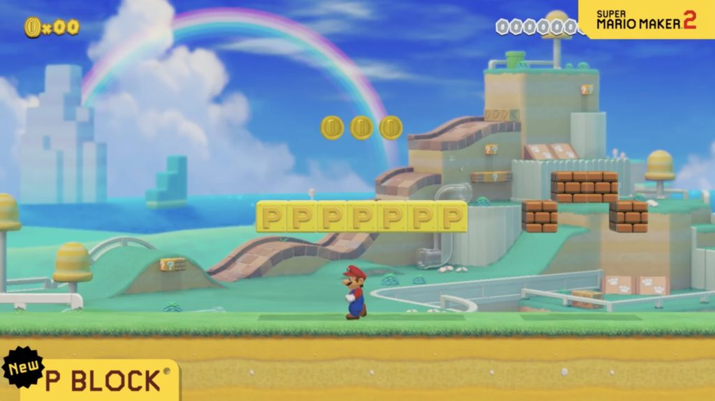 Mario Maker 2 P Block