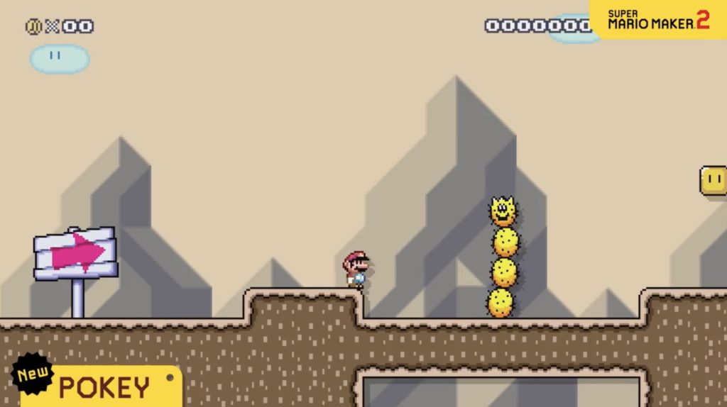 Pokey in Super Mario Maker 2