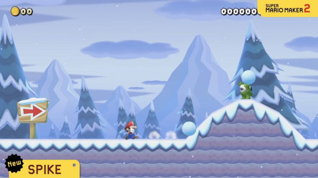 Mario Maker 2 Snow Spike