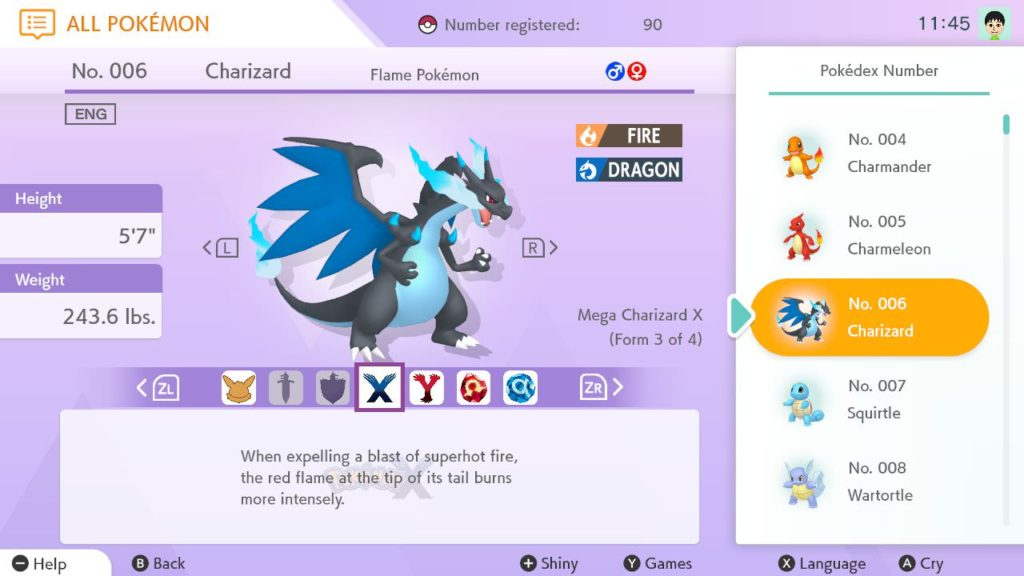 Mega Charizard Entry