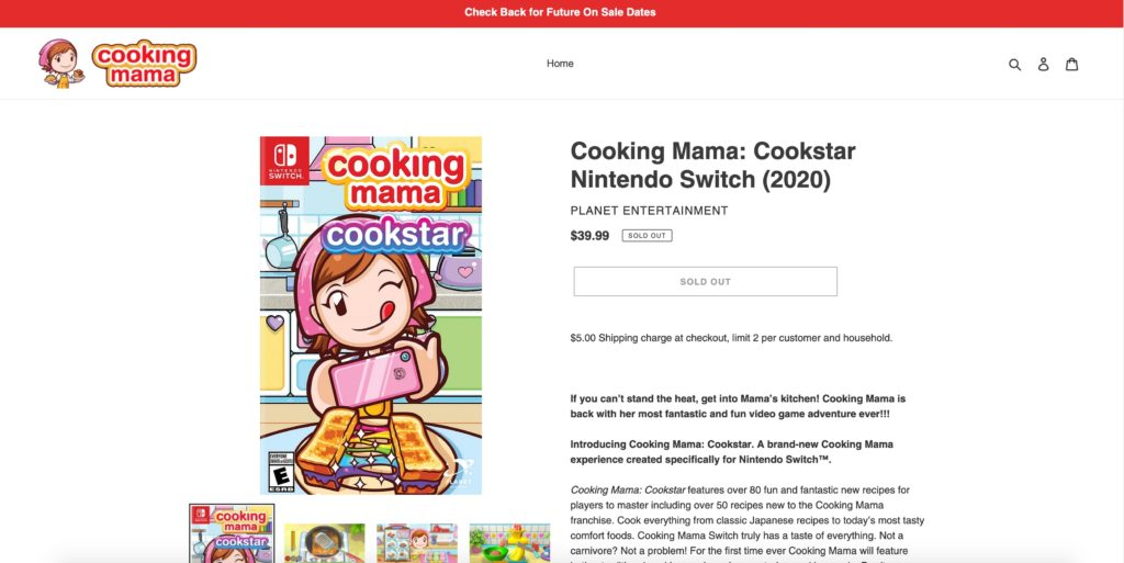 Cooking Mama Cookstar Shop