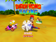 Diddy Kong Racing start screen
