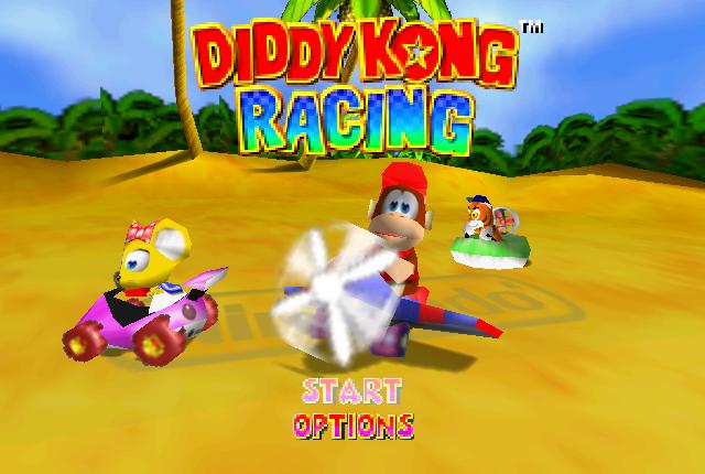 Diddy Kong Racing start screen