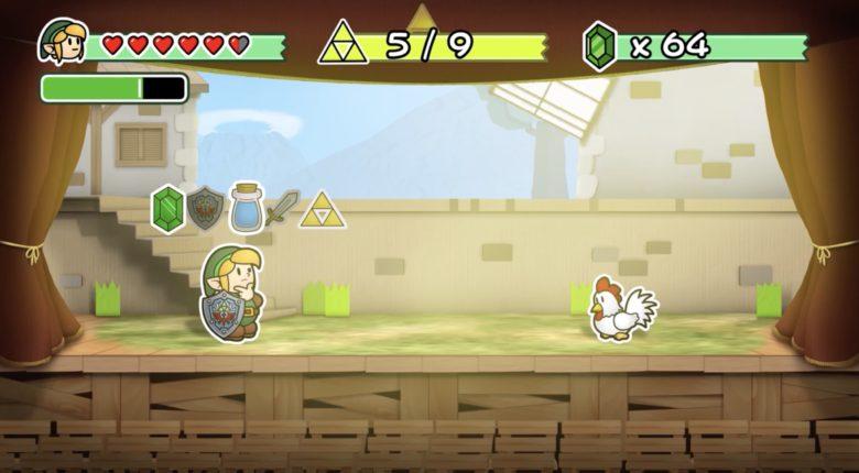 Paper Zelda Scene
