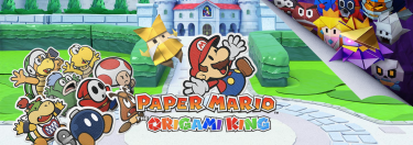 Paper Mario Origami King Banner