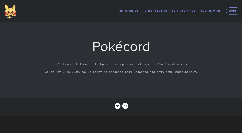 Pokecord Site