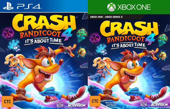 Crash Bandicoot 4 Box Art