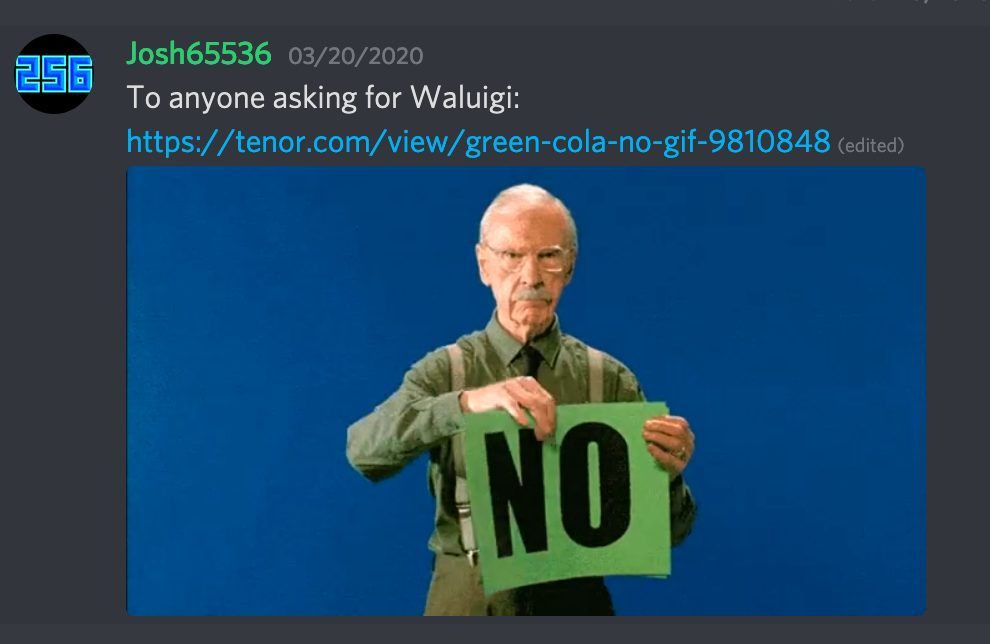 Response to Waluigi Requests