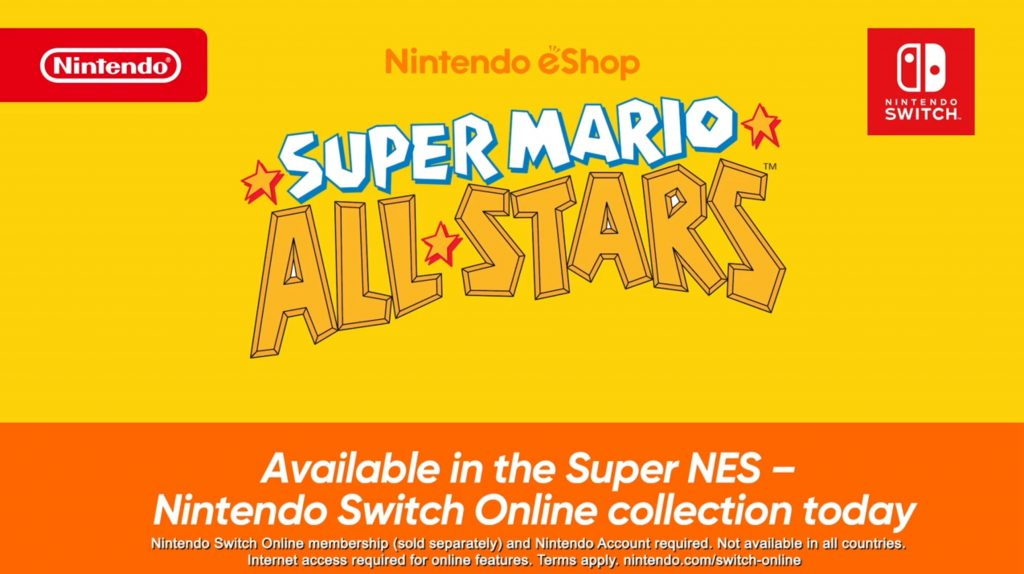 Super Mario All Stars Switch Online