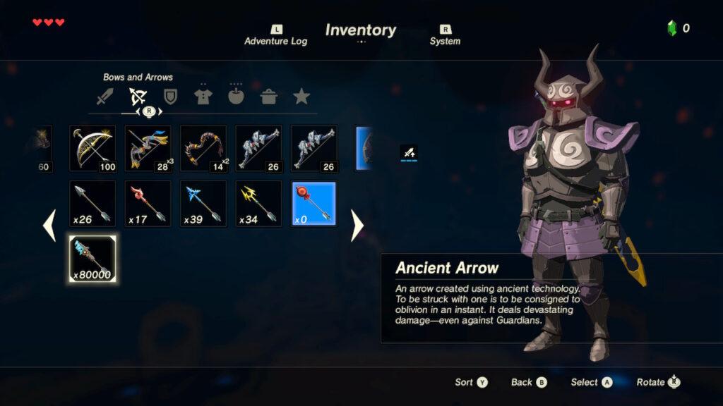 80000 Ancient Arrows