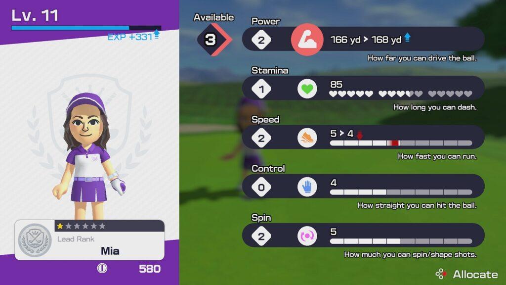 Mario Golf: Super Rush Story Mode Stats