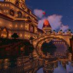 Peach's Castle Bridge at Night