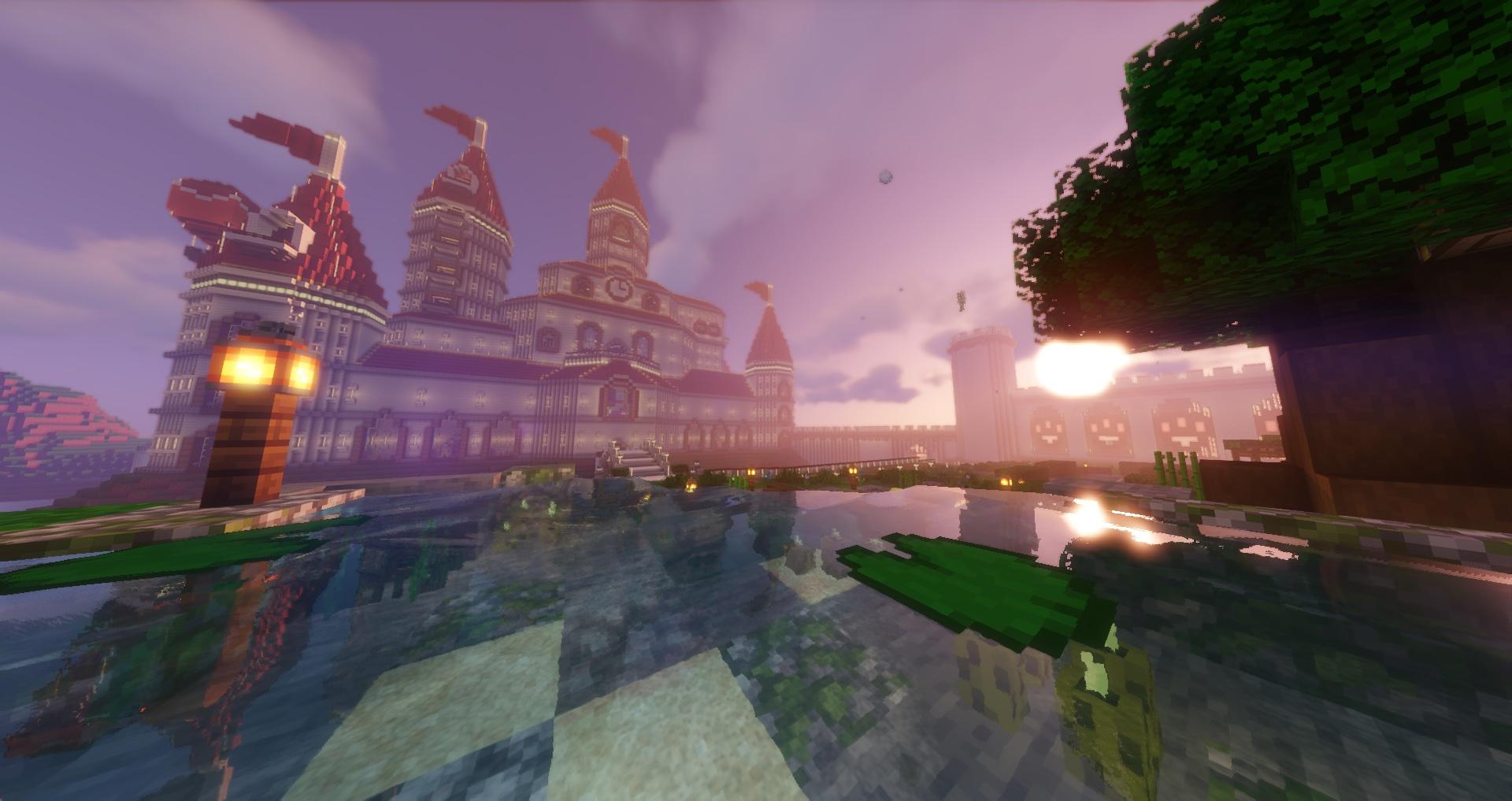 Peach's Castle Minecraft Pic