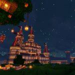 Peach's Castle at Night