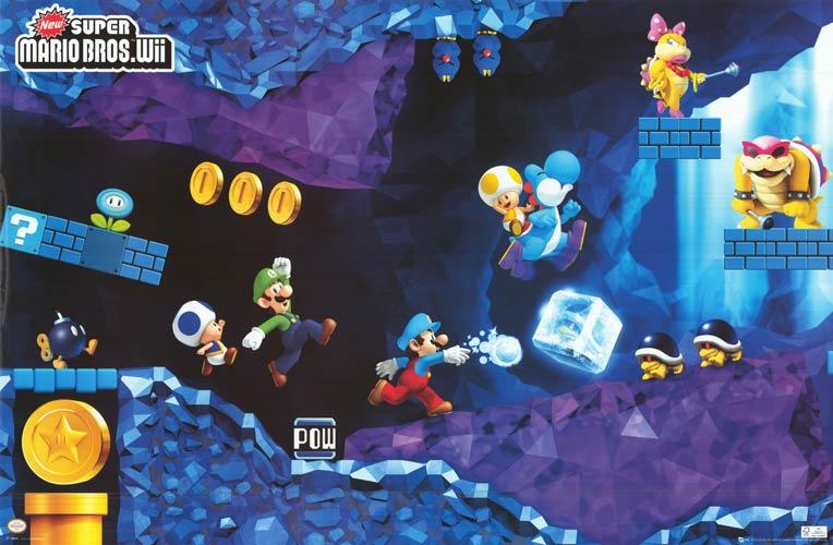 New Super Mario Bros Wii Cave Artwork