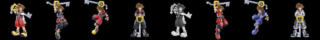 Sora's Alternate Palettes